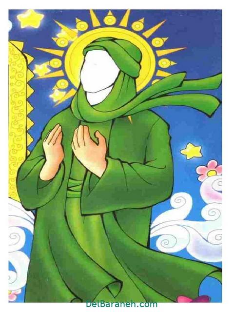 نقاشی امام ر ضا (۳)