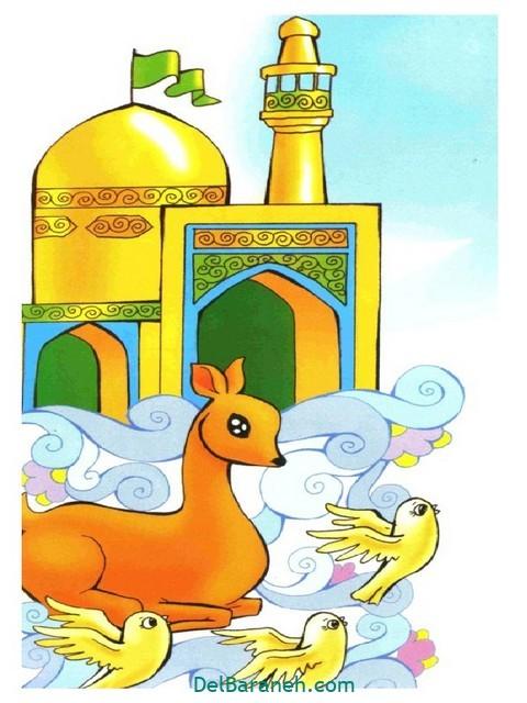 نقاشی امام ر ضا (۵)