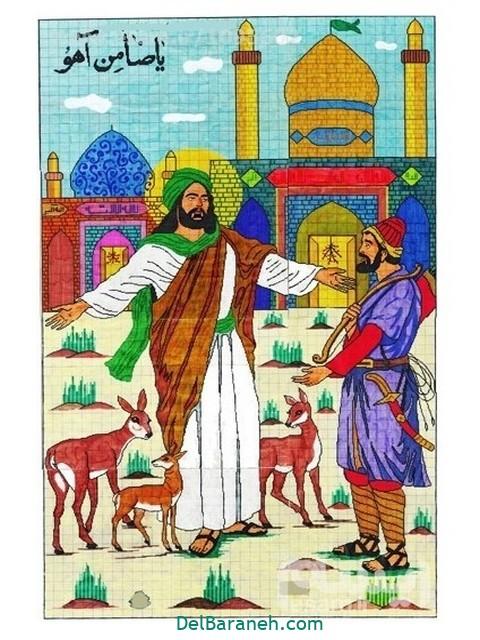 نقاشی امام ر ضا (۶)