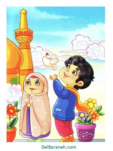 نقاشی امام ر ضا (۷)