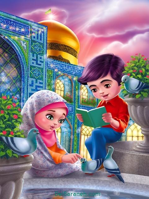 نقاشی امام ر ضا (۸)