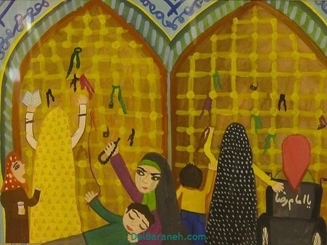 نقاشی حرم امام رضا (۱)