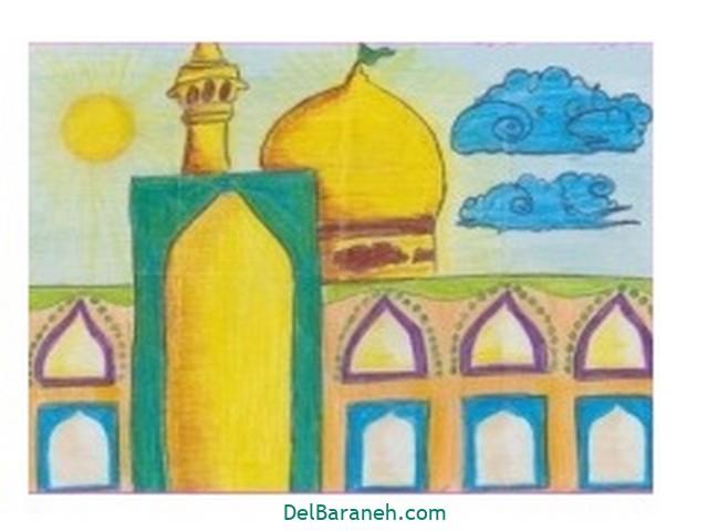 نقاشی حرم امام رضا (۳)