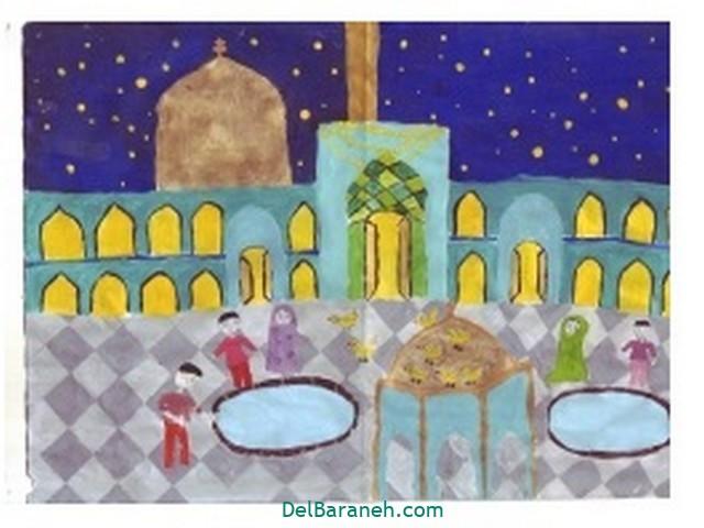 نقاشی حرم امام رضا (۵)