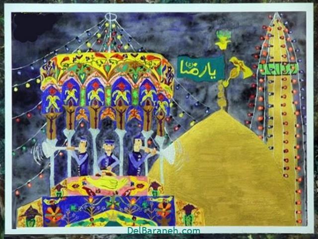 نقاشی حرم امام رضا (۶)