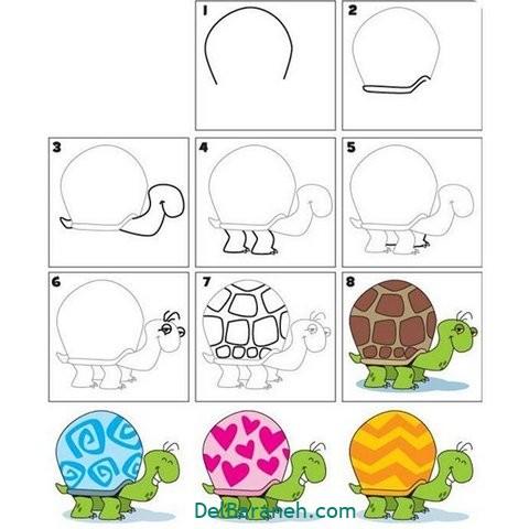 آموزش نقاشی کودکان گام به گام (۲)