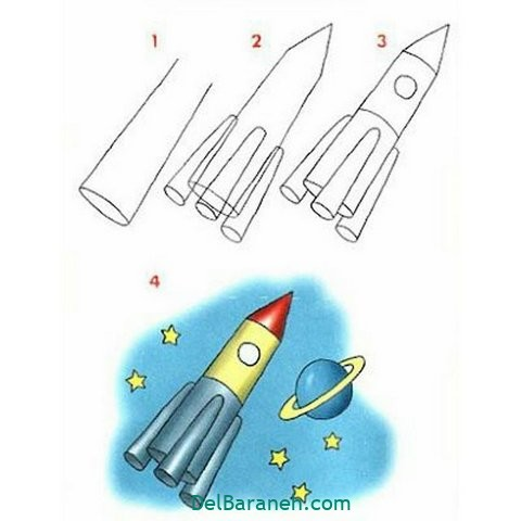 آموزش نقاشی کودکان گام به گام (۴)