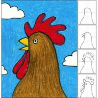 آموزش نقاشی برای کودکان   ۷۰ آموزش گام به گام نقاشی با شکل های هندسی ساده برای بچه ها