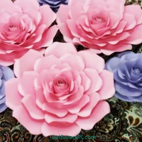 آموزش گل کاغذی (۳۰)