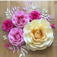 گل کاغذی | ۵۰ مدل گل دکوراتیو بزرگ و آموزش گل کاغذی جدید + الگو