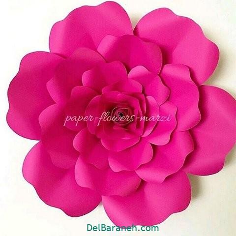 آموزش گل کاغذی (۴)
