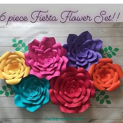 آموزش گل کاغذی (۴۰)