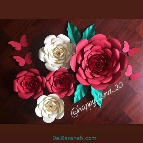 آموزش گل کاغذی (۴۴)