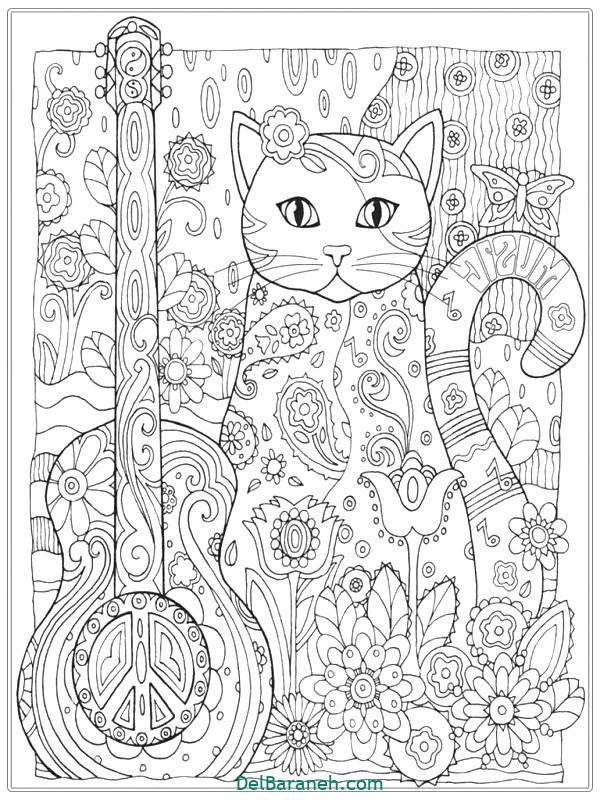 Cat Coloring Pages For Adults Bestofcoloring cat coloring pages