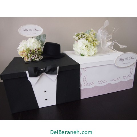 Pegeo Wedding Money & Gift Cards Box Set for Bride & Groom Beautiful gift box wedding