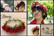 تاج گل طبیعی | ۴۴ مدل تاج گل، حلقه گل و دستبند گل طبیعی ملیح و دخترانه