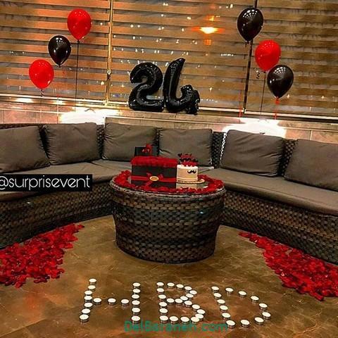 تزیین میز تولد همسر (۱۳)