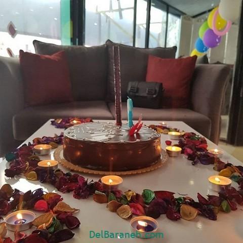 تزیین میز تولد همسر (۲۱)