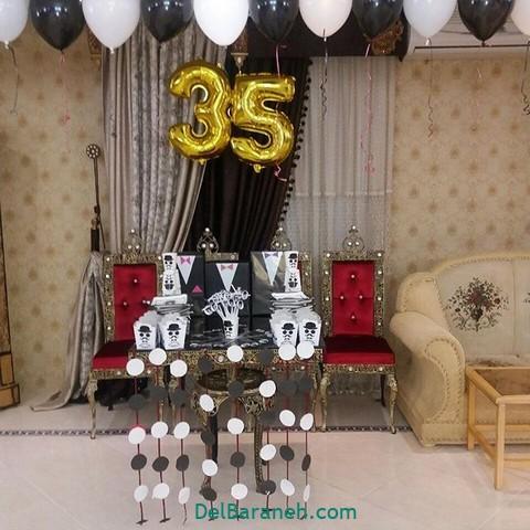 تزیین میز تولد همسر (۲۶)