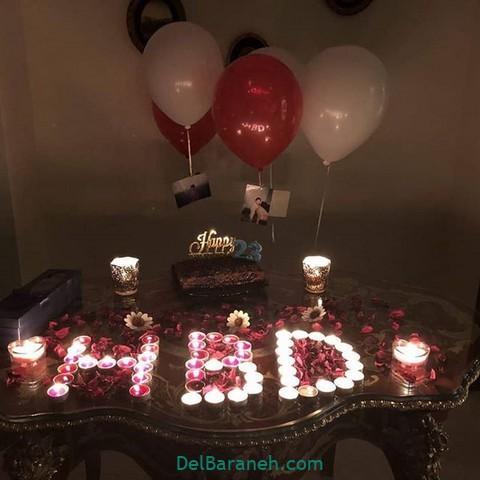 تزیین میز تولد همسر (۳۱)