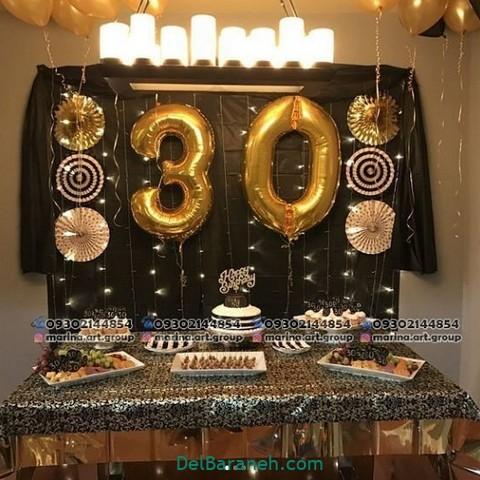 تزیین میز تولد همسر (۶)