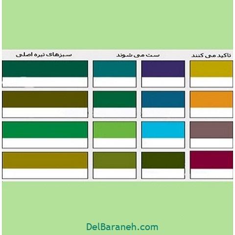 رنگ های ست با رنگ سبز