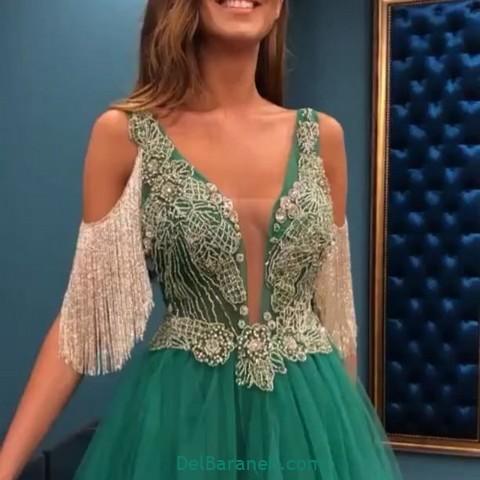 لباس مجلسی سبز (۱۰)
