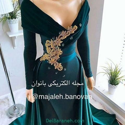 لباس مجلسی سبز (۱۲)