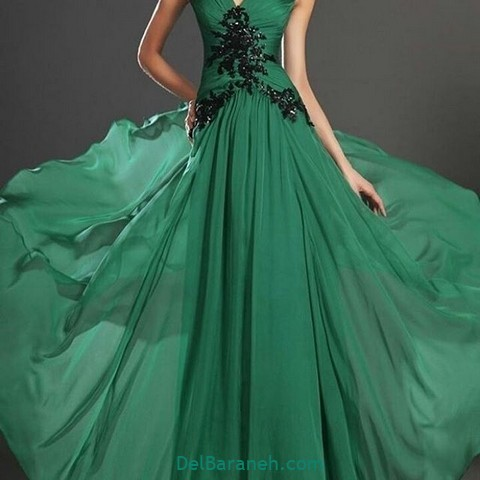 لباس مجلسی سبز (۱۳)