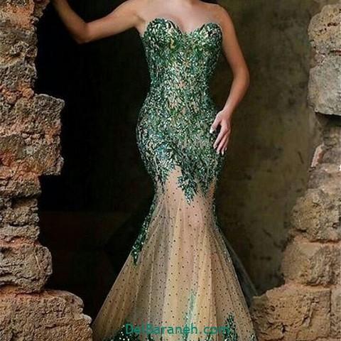 لباس مجلسی سبز (۱۴)