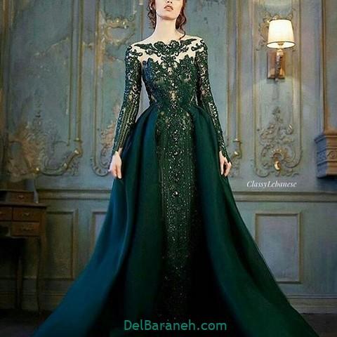 لباس مجلسی سبز (۱۸)