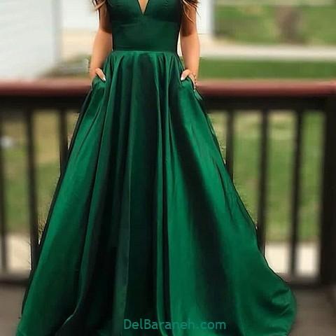 لباس مجلسی سبز (۴)