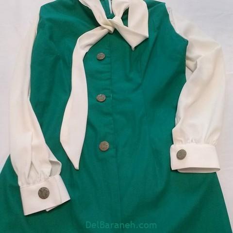 مانتو سبز پیراهن سبز (۱۱)