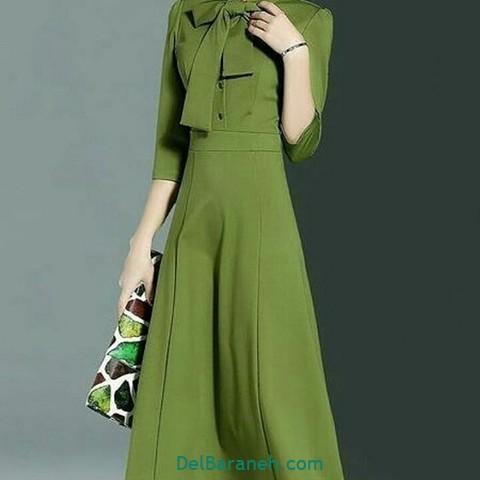 مانتو سبز پیراهن سبز (۵)