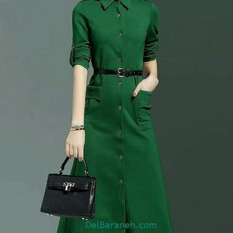 مانتو سبز پیراهن سبز (۶)