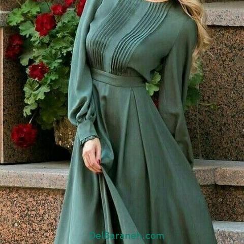 مانتو سبز پیراهن سبز (۸)