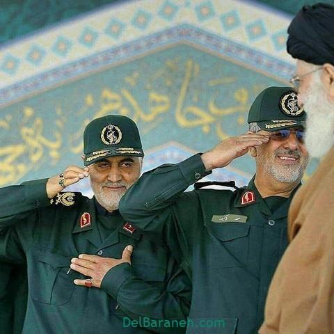 عکس سردار سلیمانی و رهبر (۵)