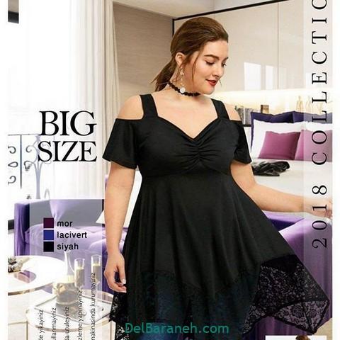 لباس مشکی سایز بزرگ (۶)