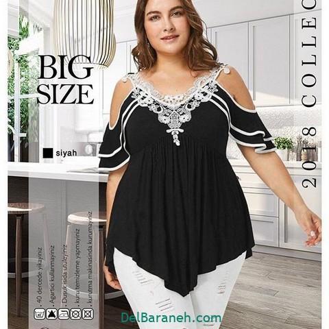 لباس مشکی سایز بزرگ (۹)