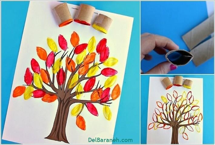 نقاشی پاییز کودکانه (۱)