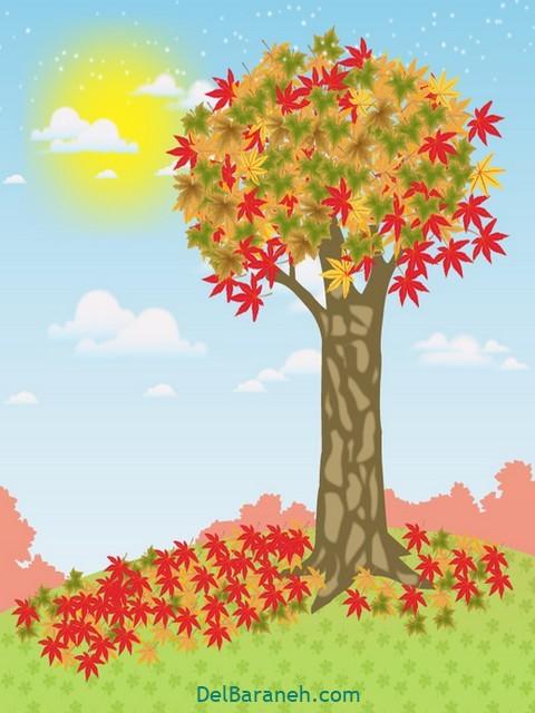 نقاشی پاییز کودکانه (۱۳)