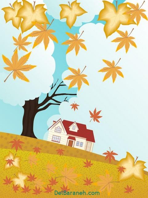 نقاشی پاییز کودکانه (۱۴)