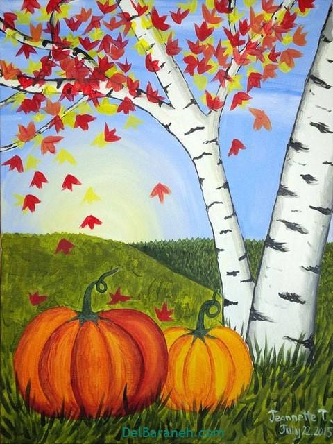 نقاشی پاییز کودکانه (۱۷)