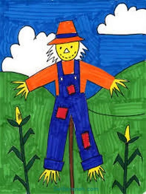 نقاشی پاییز کودکانه (۱۸)