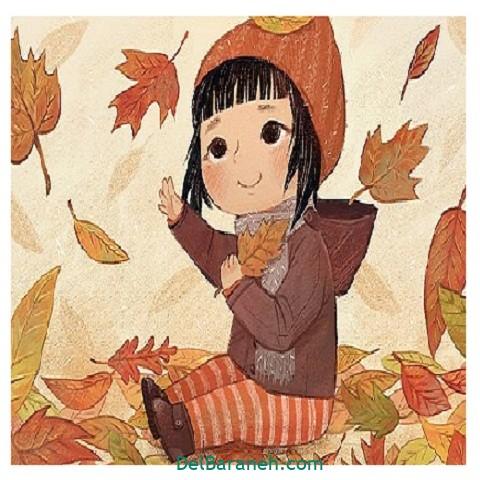 نقاشی پاییز کودکانه (۲۰)