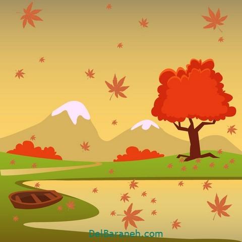 نقاشی پاییز کودکانه (۲۱)