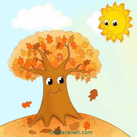 نقاشی پاییز کودکانه (۲۲)