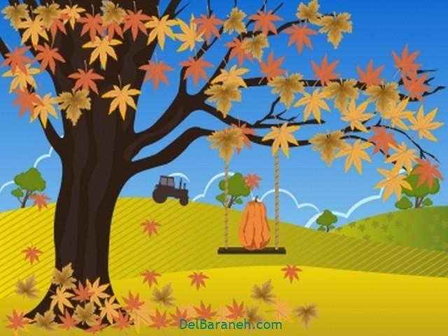 نقاشی پاییز کودکانه (۲۴)
