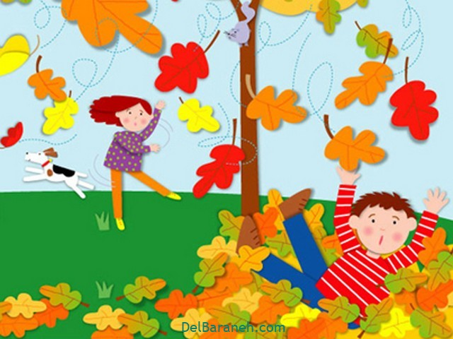 نقاشی پاییز کودکانه (۲۸)