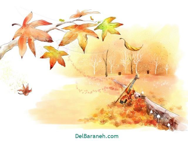 نقاشی پاییز کودکانه (۲۹)